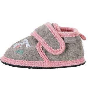 STERNTALER Pantofle  světle růžová / šedý melír / bílá / nefritová / žlutá