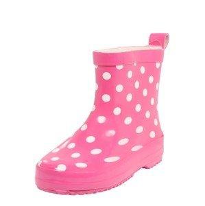 PLAYSHOES Gumové holínky  pink / bílá