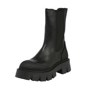 INUOVO Chelsea boty  černá