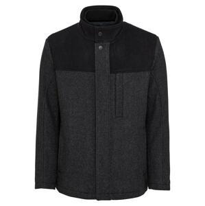 ESPRIT Přechodný kabát 'Block'  antracitová / černá