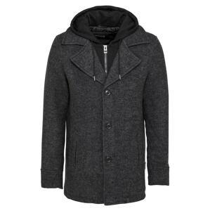 INDICODE JEANS Přechodný kabát 'Adair'  černá / antracitová