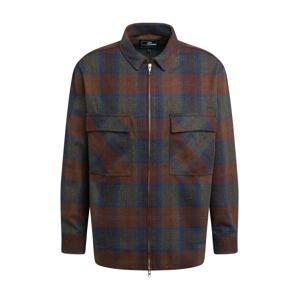 EDWIN Košile 'Radar'  olivová / rezavě červená / tmavě modrá