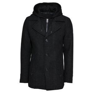INDICODE JEANS Přechodný kabát 'Adair'  černá