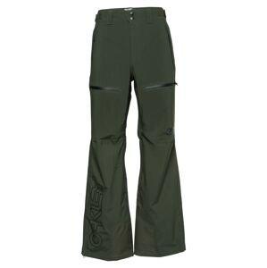 OAKLEY Outdoorové kalhoty  černá / tmavě zelená