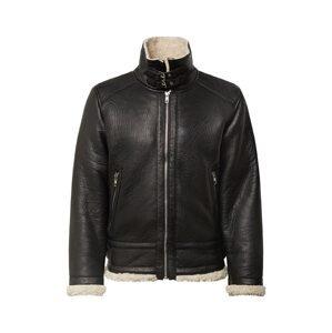 BE EDGY Zimní bunda 'Austin'  offwhite / černá