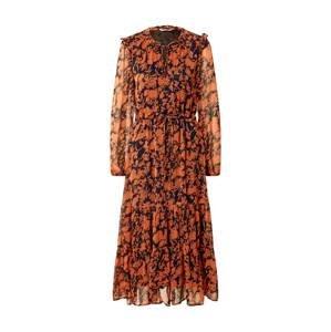 ONLY Šaty 'Emma'  černá / oranžová