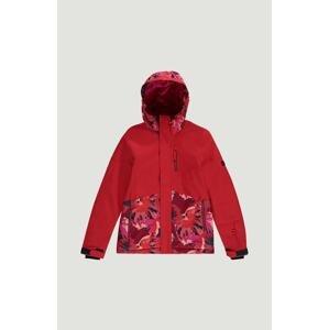 O'NEILL Outdoorová bunda  ohnivá červená / pink / tmavě modrá