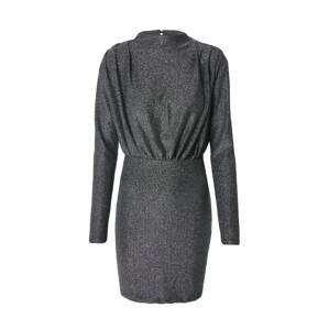 Gina Tricot Koktejlové šaty 'Amber'  stříbrně šedá