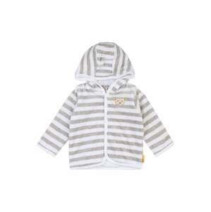 Steiff Collection Přechodná bunda  šedý melír / bílá