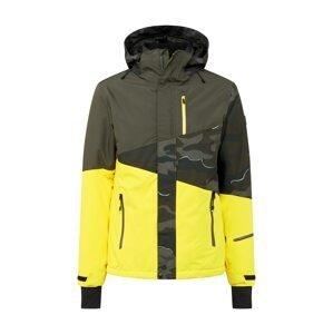 BRUNOTTI Outdoorová bunda 'Idaho'  žlutá / khaki / tmavě zelená