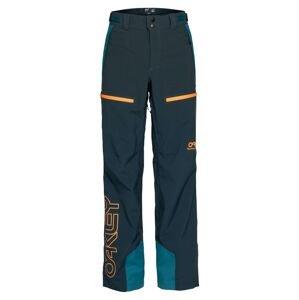 OAKLEY Outdoorové kalhoty  tmavě modrá / oranžová / nefritová