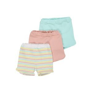 NAME IT Kalhoty 'BODIL'  aqua modrá / růžová / bílá / pastelově žlutá