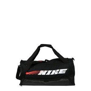 NIKE Sportovní taška 'Brasilia'  bílá / černá / červená