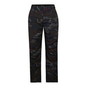 BRUNOTTI Sportovní kalhoty 'Kitebar'  černá / šedá / tmavě hnědá