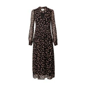 Maison 123 Košilové šaty 'NAMIKA'  černá / starorůžová / pitaya