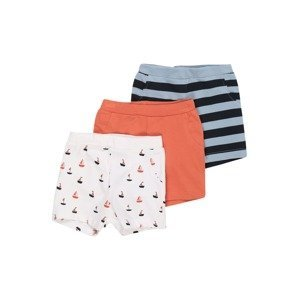 NAME IT Kalhoty 'BERTRAM'  bílá / světlemodrá / námořnická modř / lososová