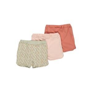 NAME IT Kalhoty 'BARBEL'  pastelově zelená / pastelově růžová / lososová