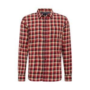 VANS Košile 'ALAMEDA'  červená / černá / krémová