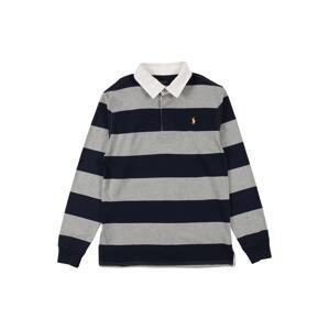 Polo Ralph Lauren Tričko 'RUGBY'  námořnická modř / šedá