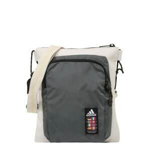 ADIDAS PERFORMANCE Sportovní taška  béžová / tmavě šedá