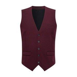 BURTON MENSWEAR LONDON Vesta k obleku  burgundská červeň / černá