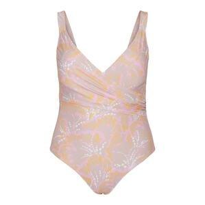 Vero Moda Curve Plavky 'Fleur'  pudrová / světle fialová / oranžová / bílá