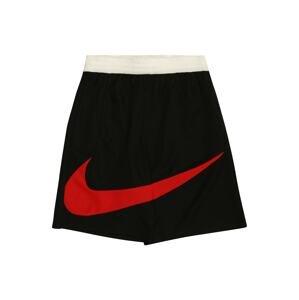 NIKE Sportovní kalhoty  černá / červená / bílá