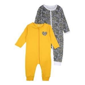 NAME IT Pyžamo  žlutá / bílá / černá
