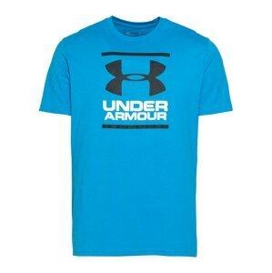 UNDER ARMOUR Funkční tričko  černá / nebeská modř / bílá