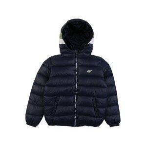 4F Outdoorová bunda  námořnická modř / olivová / bílá