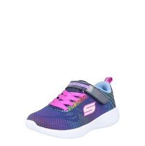SKECHERS Tenisky 'GO RUN 600'  modrá / světlemodrá / světle růžová / bílá / mix barev