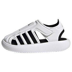 ADIDAS PERFORMANCE Plážová/koupací obuv  bílá / černá