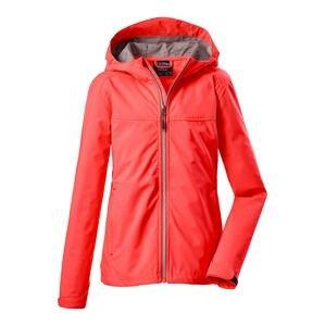 KILLTEC Outdoorová bunda  korálová / šedý melír