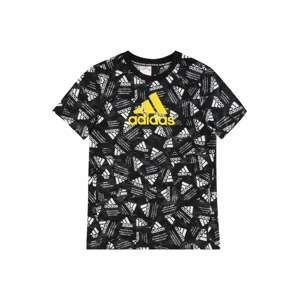 ADIDAS PERFORMANCE Funkční tričko  černá / bílá / žlutá