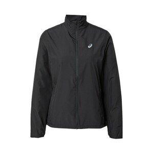 ASICS Sportovní bunda 'SILVER'  černá / bílá
