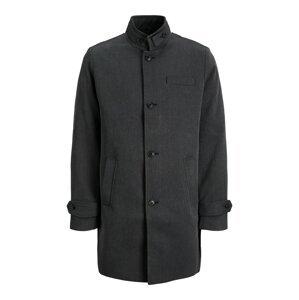 JACK & JONES Přechodný kabát 'Melton'  tmavě šedá