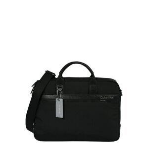 Calvin Klein Taška na notebook  černá / bílá