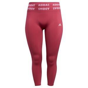 ADIDAS PERFORMANCE Sportovní kalhoty  vínově červená / bílá / fialová