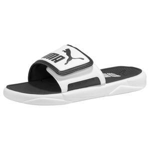 PUMA Plážová/koupací obuv  bílá / černá
