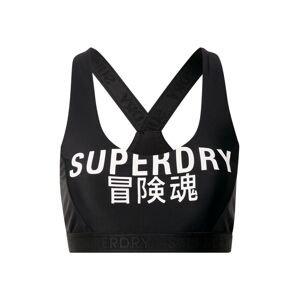 Superdry Horní díl plavek  černá / bílá