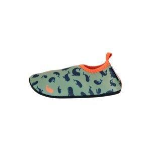 STERNTALER Plážová/koupací obuv  zelená / oranžová / námořnická modř