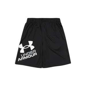 UNDER ARMOUR Sportovní kalhoty 'Prototype 2.0'  černá / bílá