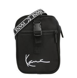 Karl Kani Taška přes rameno 'Signature Tape Messenger'  černá / bílá