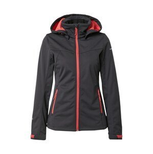 ICEPEAK Outdoorová bunda 'Boise'  černá / červená / šedá