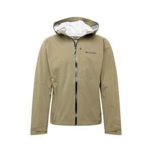 COLUMBIA Outdoorová bunda  olivová / černá