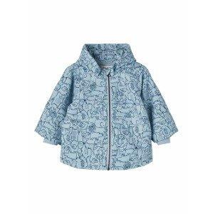 NAME IT Zimní bunda 'Max'  kouřově modrá / modrá