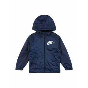 Nike Sportswear Přechodná bunda  bílá / marine modrá
