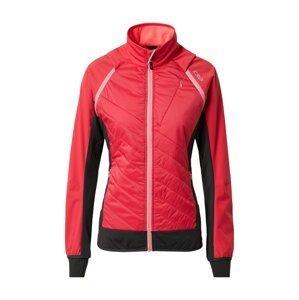 CMP Outdoorová bunda  červená / černá / bílá