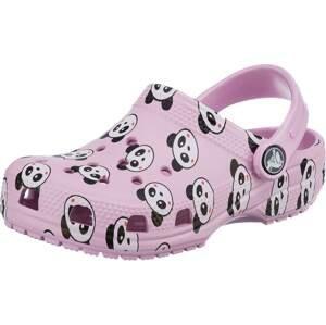 Crocs Otevřená obuv  růžová / černá / grenadina / bílá