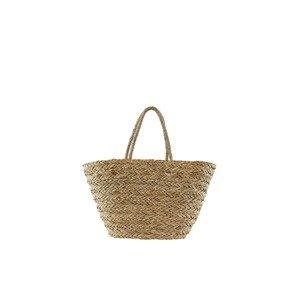 PIECES Plážová taška  světle hnědá